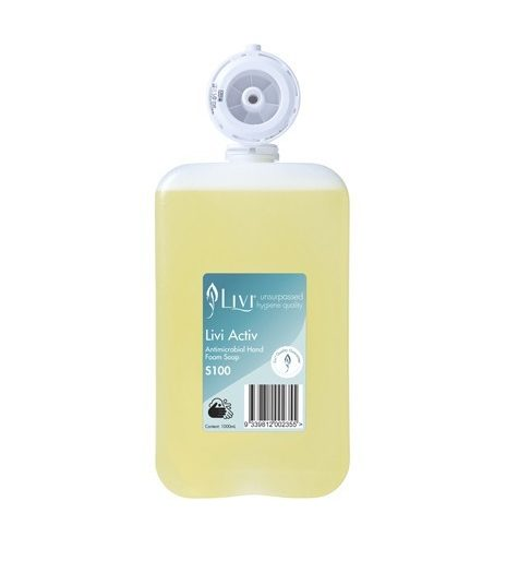 Livi Activ Antimicrobial Hand Foam Soap – S100